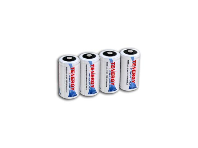 Combo: 4 pcs Tenergy Premium C 5000mAh NiMH Rechargeable Batteries