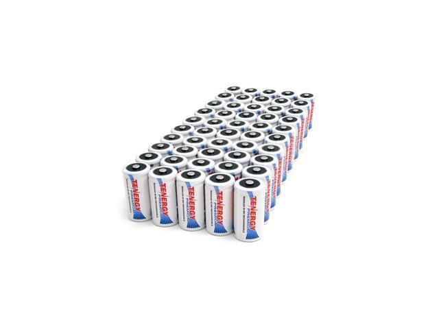 Combo: 50 pcs Tenergy Premium C 5000mAh NiMH Rechargeable Batteries