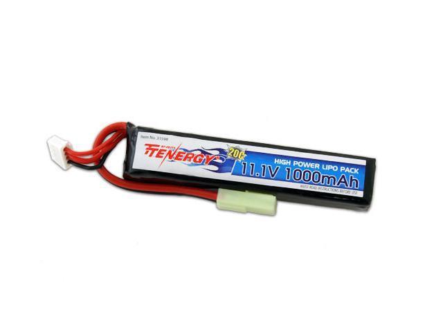Tenergy 11.1V 1000mAh Li-Po Airsoft Stick Battery Pack