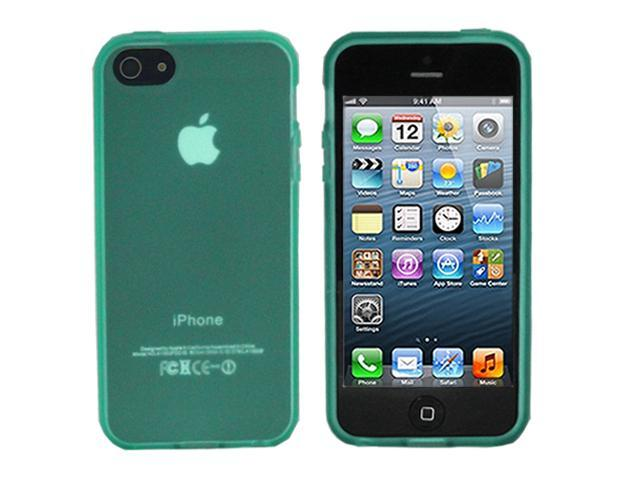 ASleek Clear Green TPU Frost Rubber Case Cover for Apple iPhone 5