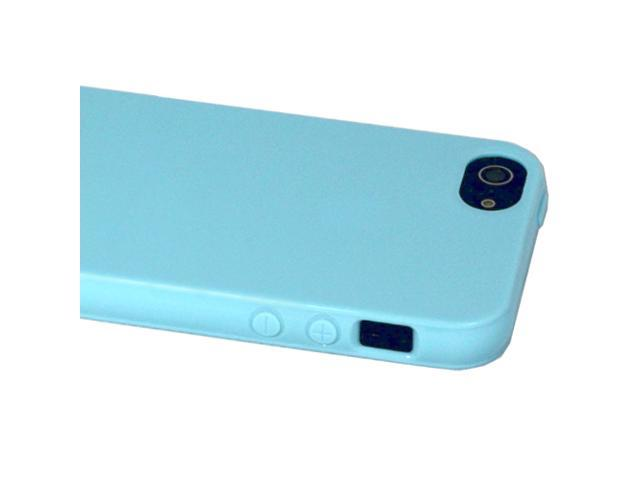 ASleek Blue TPU Gel Flexible Soft Case Cover for Apple iPhone 5