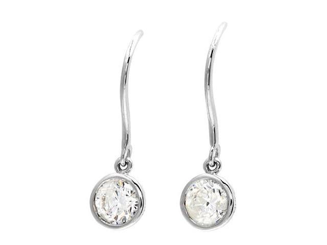 14K White Gold and Diamond Earrings, 1.00ctw
