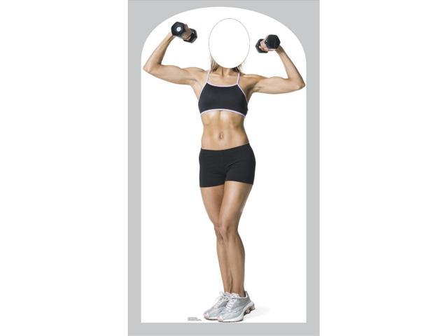 Muscle Woman Stand In-Lifesized Standup