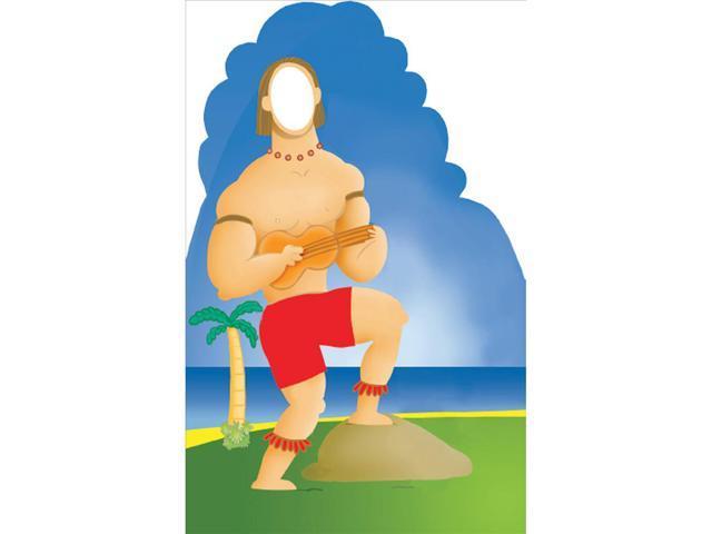 Hawaiian Guy Stand In Lifesized Standup