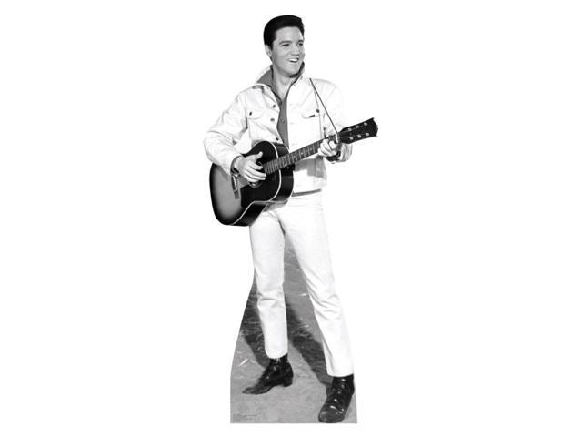 Elvis Bandw White Jacket Lifesized Standup
