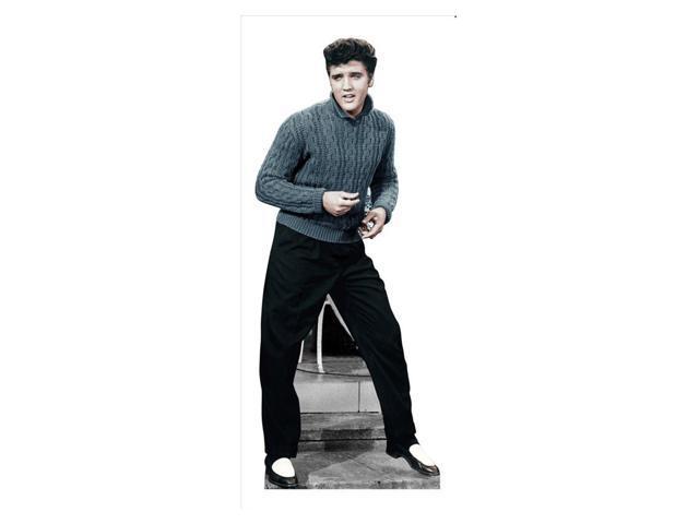 Elvis Blue Sweater Lifesized Standup