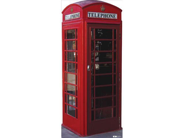 Lifesized  English Phone Booth Standup
