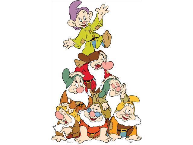 Seven Dwarfs Group Lifesized Standup