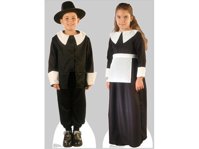 Pilgrim Boy And Pilgrim Girl Set Lifesized Standup