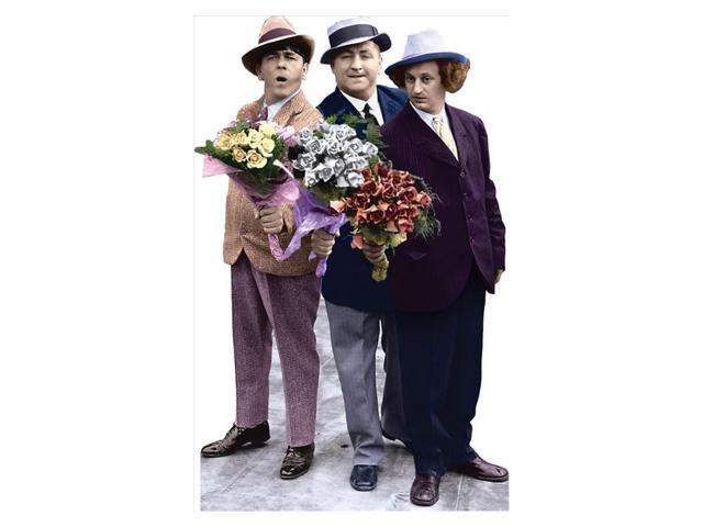 Three Stooges-Flowers Lifesized Standup