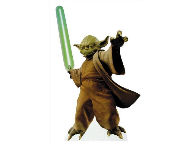Yoda with Lightsaber-Lifesized Standup