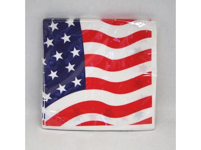 American Flag Lunch Napkins