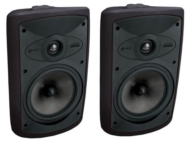 Niles OS7.5 Black (Pr.) 7 Inch 2-Way High Performance Indoor Outdoor Speakers (FG00997)