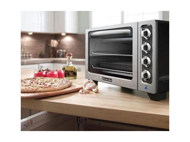 KitchenAid KCO222OB Countertop Oven Onyx Black Toaster pizza Oven Bake ...