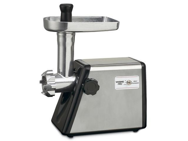 WARING PRO WPG100 Food Meat Grinder Brushed Stainless Steel 300-Watt Manufacturer Refurbished