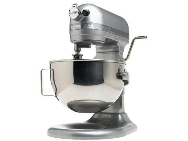 Kitchenaid Stand Mixer 450-W 10-Speed 5 Quart R-Kg25hOXMC Metalic Chrome All Metal Manufacturer Refurbished