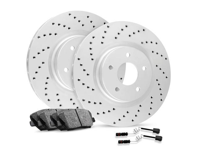 [FRONT] Premium Cross-Drilled Brake Rotors & Ceramic Brake Pads