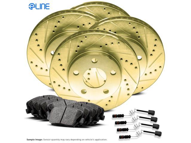 Mercedes Benz Brake Pads And Rotors >> Full Kit Gold Drill Slot Brake Rotors Ceramic Brake Pads