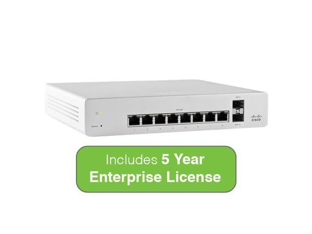 Cisco Meraki Cloud Managed Switch MS220-8 includes 5 Year Enterprise License