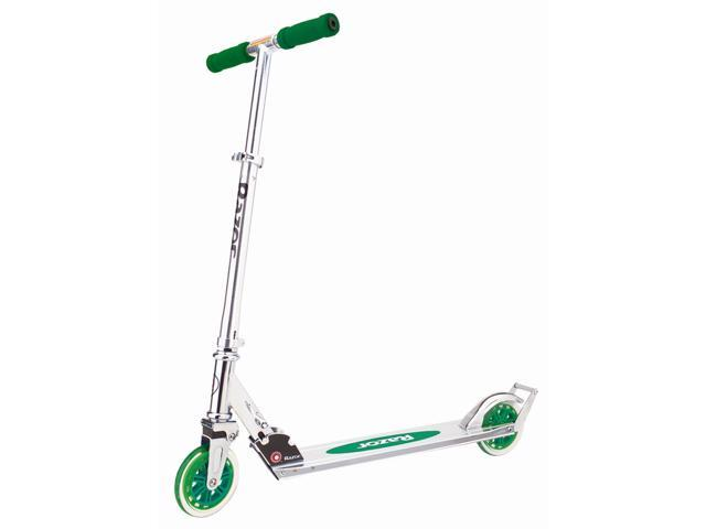 Razor A3 Folding Kick Scooter w Green Wheels & H& le