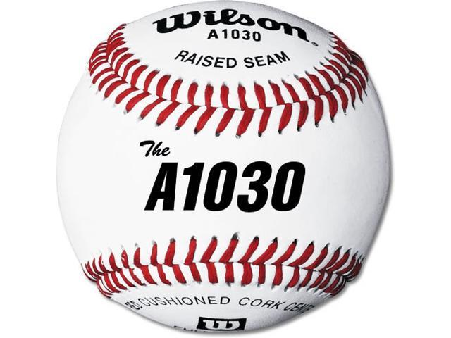 Baseballs - Wilson A1030 High School Practice/Game, 1-Dozen