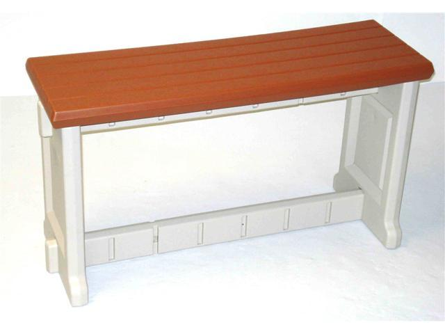 36 Inch Resin Patio Bench Redwood