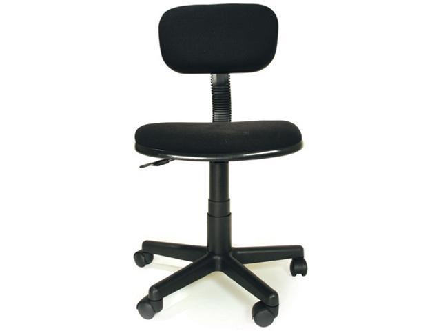 Ergonomic Task Chair in Black w Adjustable Height Base