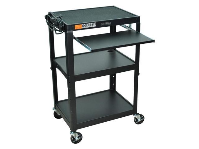 Adjustable AV Cart w Pullout Keyboard Tray (Royal Blue)