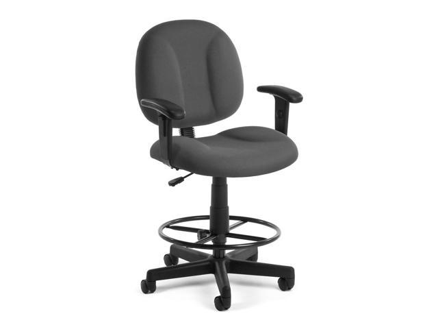 Super Chair Adjustable Task Chair w Arms & Drafting Kit (Gray)