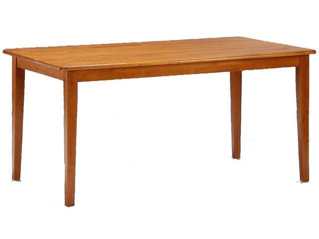 Hardwood Rectangular Shaker Style Dining Table W Oak Finish