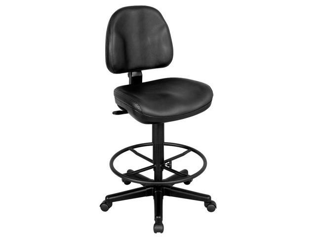 Premo Ergonomic Drafting Chair In Black Leather