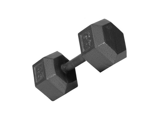 USA Sports Iron Hex Dumbbell (14 in. Dia x 12 in. H (60 lbs.))