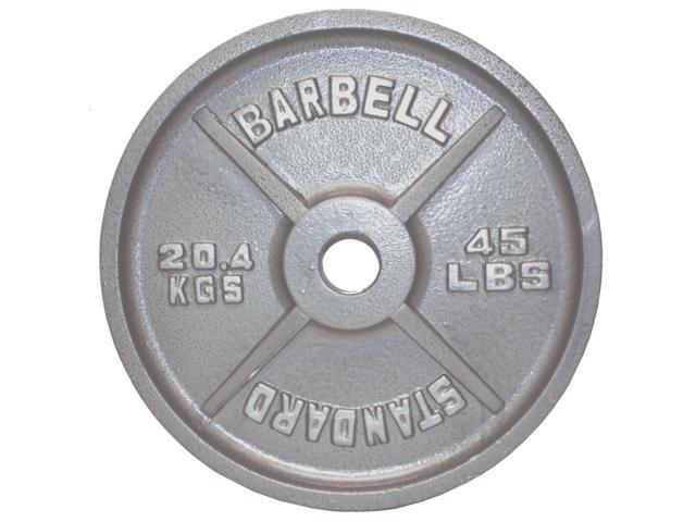 USA Sports Gray Olympic Plate - 45 lbs.