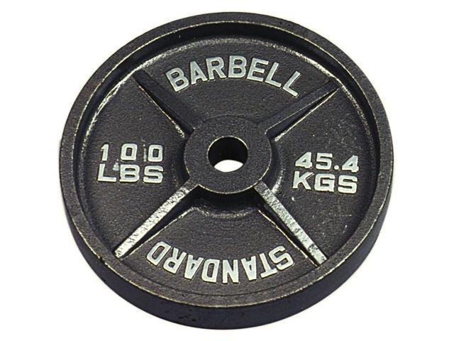 USA Sports Black Olympic Plate - 100 lbs.