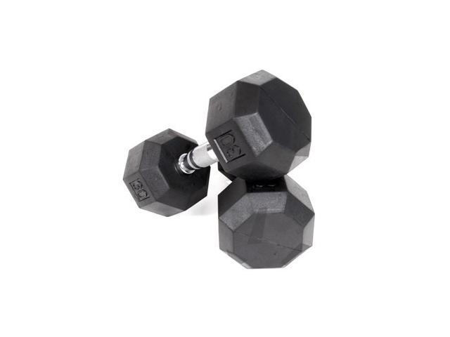 VTX Rubber Encased Octagonal 3 lb. Individual Dumbbell (11 in. Dia x 12 in. H (25 lbs.))