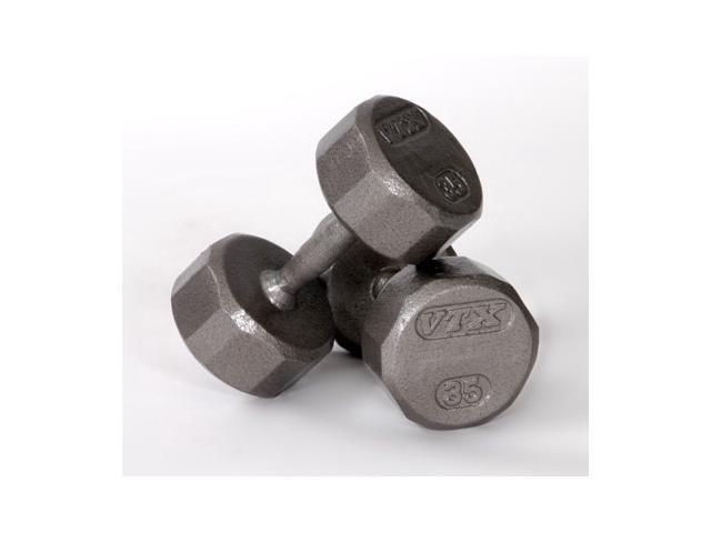 VTX 12-Sided Cast Dumbbells - (7 in. Dia x 12 in. H (3 lbs.))