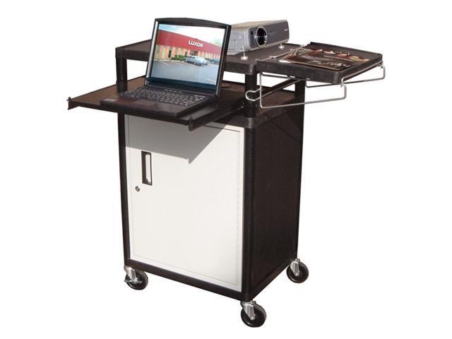 AV Presentation Cart w Locking Cabinet