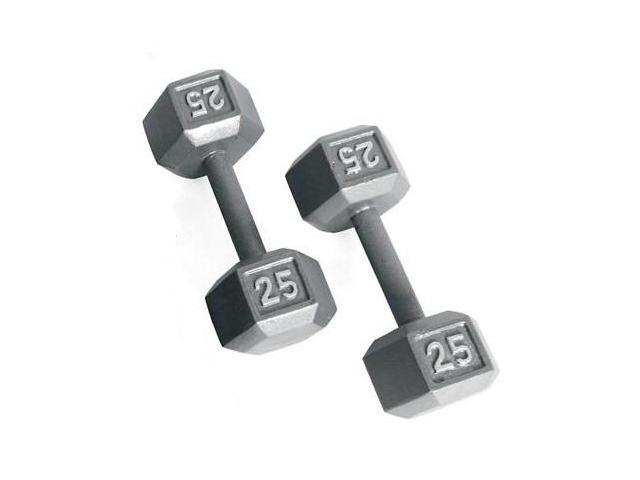 CAP Barbell Solid Hex Dumbbells in Gray Finish (13.74 in. L x 6.65 in. W x 5.75 in. H (60 lbs.))