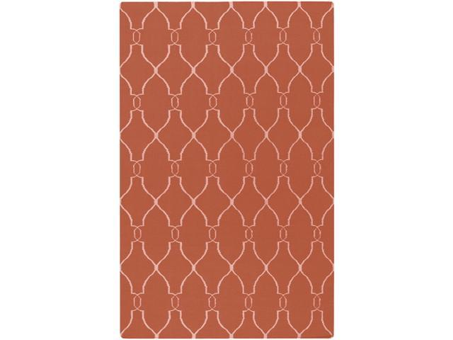 Fallon FAL1002 Designer Wool Rug in Coral (5 ft. x 8 ft.)