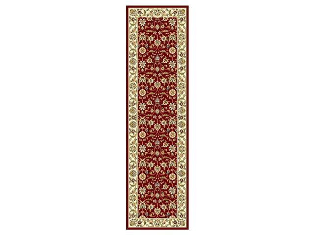 Traditional Red & Ivory Rug (2 ft. 3 in. x 14 ft.)
