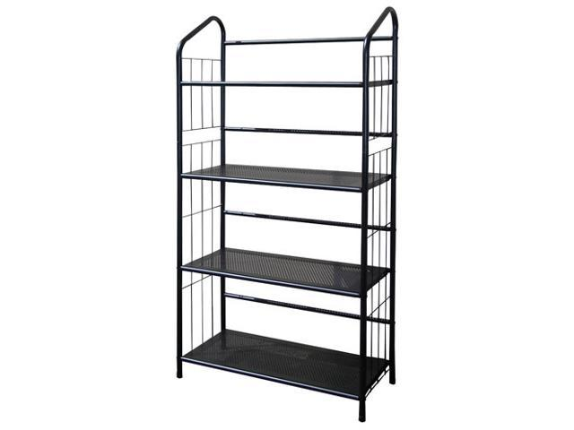 4-Tier Bookshelf w Metal Shelves