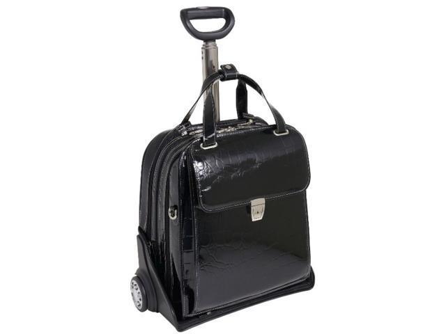 Ladies' Vertical Detachable-Wheeled Case w Secure Clasp - Novembre (Black)