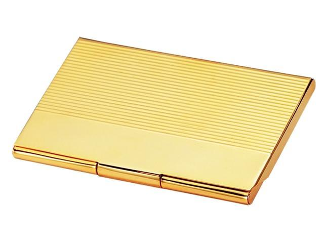 Business Card Case in Polished Gold Plate Newegg