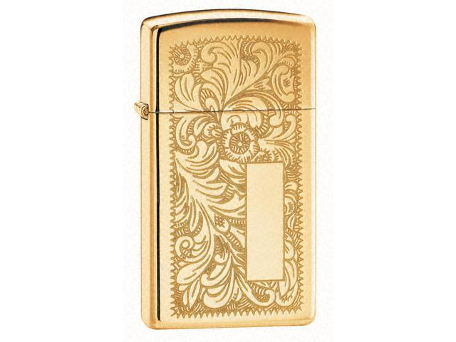 Venetian Windproof Lighter in High Polished Brass (Century)