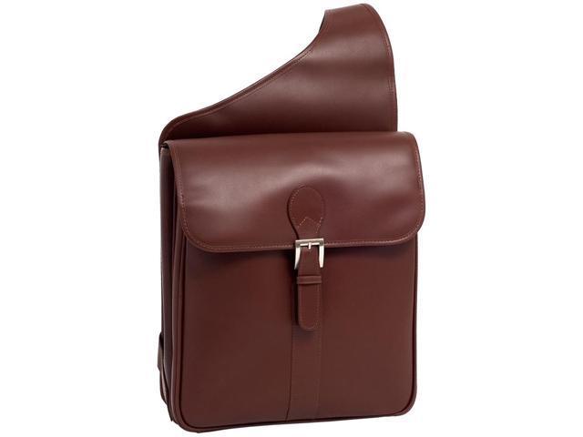 Flap-Over Design Leather Vertical Messenger Bag - Sabotino