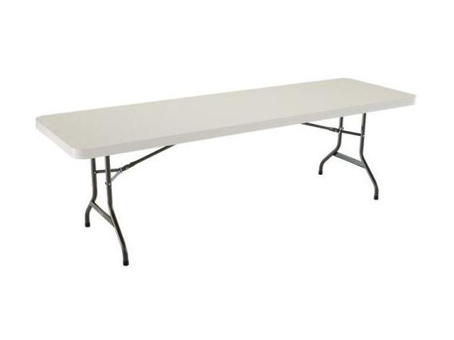 8 ft folding banquet table in almond bronze for 10 foot banquet table