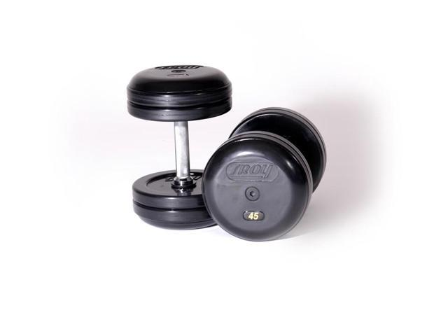 Troy Pro-Style Rubber Dumbbells - Set of 2 (65 lbs.)