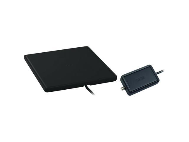Home Theater Style Multi-Directional Digital Flat Amplified Antenna (Black)