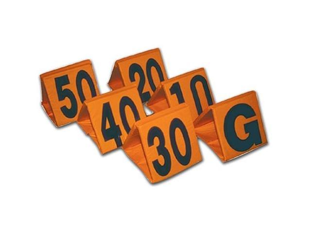 Weighted Football Yard Markers in Orange - Set of 11