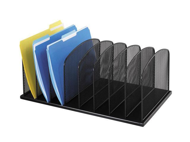 Onyx mesh desk organizer in black - Black mesh desk organizer ...